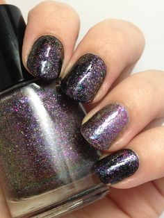 ☆ Shifty Business ☆ ... a Multi Chrome Nail Polish with Silver Flakies and Holo Dust ... Glitter Topper Indie Nail Polish by Noodles Nail Polish