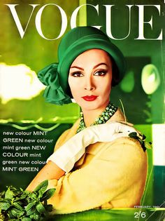 Vogue Magazine Cover - February, 1961 Green & Hot Yellow....1961 is replaying.