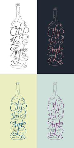 Jordan Wine, Logo, Design, Typography, Curvy, Organic Type, Illustrative, Decorative, Flamboyant, Los Angeles. This is gorgeous.
