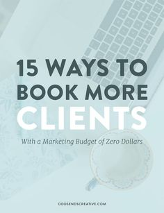 INTERESTING. Learn how to book more clients for your creative business when you don't have a lot of money (or any) to spend on marketing. You can connect with your dream client and land that booking by spending nothing at all. For Creative Entrepreneurs / Solopreneurs. Sign up to the Odds + Ends email list to get your copy: http://oddsendscreative.us11.list-manage.com/subscribe?u=e09911585157eeb26c168aaf9&id=309ea1f08d