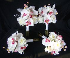 love the orchids  @ Church Mouse Creations on Etsy
