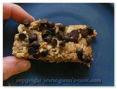 Simple Healthy Granola Bar Recipe - need to find some dried fruit with no added sugar for these. Leave chocolate chips off during unprocessed October, but looking forward to trying it with them.