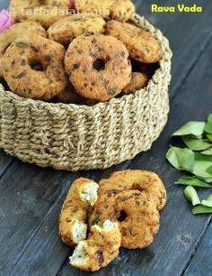Rava Vada, Sooji Vada recipe | by Tarla Dalal | Tarladalal.com | #41937