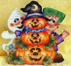 The Decorative Painting Store: The Boo Crew Pattern - Sharon Cook - PDF DOWNLOAD, Sharon Cook