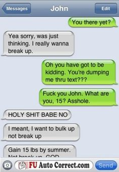 Text Fail To Crush Funny Text Messages Funny Text Fails Crush Relationships Autocorrect Fail. Break Up Text Messages, Break Up Texts, Funny Text Messages, Funny Texts Crush, Funny Text Fails, Crush Funny, Crush Texts, Text Jokes, Flirting Texts