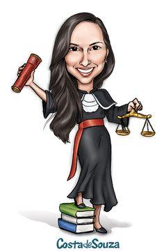 Caricatura para formatura de Direito. #graduation #caricature