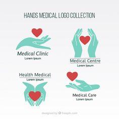Colección de logos de manos médicas Vector Gratis