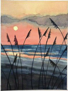 My watercolor painting. sold.                                                                                                                                                     More