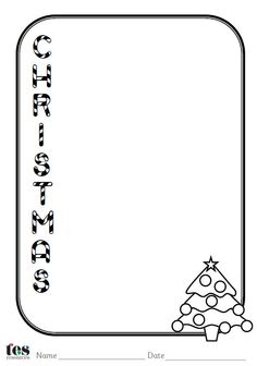 set of 4 Christmas themed acrostic poem sheets. Each sheet includes ...