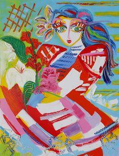 Flora - 116 x 89 cm - Huile sur toile