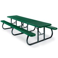 10' Rectangular Expanded Steel Table, Portable Frame | Picnic Tables | Upbeat.com