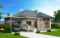 3 Bedroom Contemporary House Plans New Miranda Elevated 3 Bedroom with 2 Bathroom Modern House Contemporary House Plans, Modern House Plans, Small House Plans, Contemporary Architecture, Modern Contemporary, Bungalow Floor Plans, Modern Bungalow House, Tiny House, 3 Bedroom Bungalow