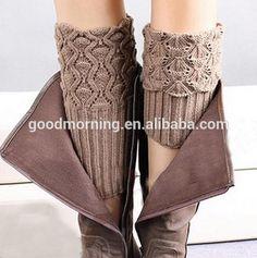 Womens Boot Socks Cuffs Boot Cuffs Boot Topper Knitted Boot Cuffs Knit Button…