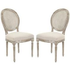 Safavieh Marseille Grey Carved Oak Side Chairs (Set of 2) | Overstock.com Shopping - Great Deals on Safavieh Dining Chairs