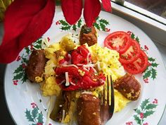 What's Cookin' Italian Style Cuisine: An Italian Christmas Morning with Homemade Italian Sausage and Eggs