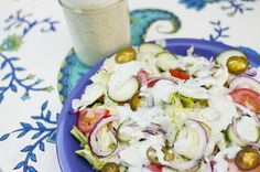 You might have heard before in my previous Ranch Dressing recipethat I'm not much of a salad person. I'm working on that! I actually went out to a place with some AMAZING vegan salads. Something about someone else making a salad for you makes it very tempting. Also the fact that it was covere