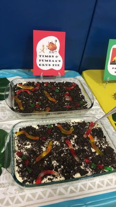 Lion Guard Party - Oreo Dirt Cakes