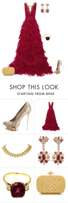 """outfit 2366"" by natalyag ❤ liked on Polyvore featuring moda, Gianmarco Lorenzi, Marchesa, Bottega Veneta, women's clothing, women's fashion, women, female, woman e misses"