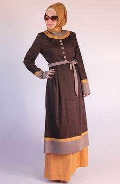 Lady Kap / Kahve, 2013 kap modelleri, tesettür, tesettur, hijab, pardesü, pardösü, pardüse, karaca butik