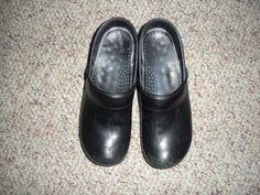 Women's Black slip-resistant Sanita clogs size 40 #Sanita #NursingUniform