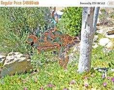 ON SALE Cat / Yard Art / Metal Garden Art / Outdoor Garden / Hanger / Copper Art / Patina / Cat Art / Animal Sculpture / Kitty / Patio Decor