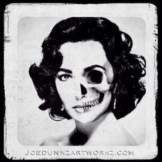 Elizabeth Taylor skull portrait