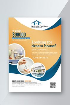 Simple and fresh style complete set of real estate Brochure design Flyer And Poster Design, Flyer Design, Brochure Design, Logo Design, Free Banner Templates, Poster Templates, Business Ppt Templates, School Posters, Visual Communication