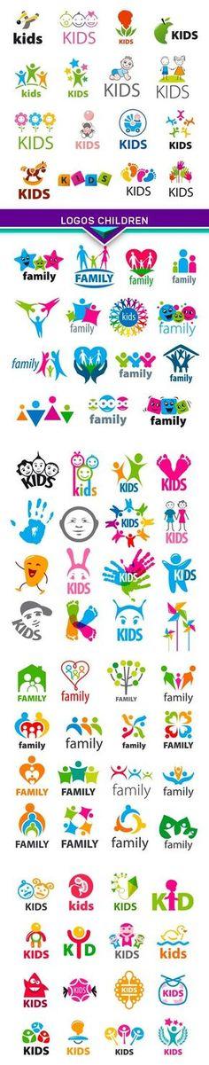 children Clothes Logo - large collection of vector logos children EPS, Children Clothing, Kindergarten Logo, Kids Planner, Church Logo, Monster Characters, Education Logo, Clothing Logo, Kids Logo, Logo Concept, Kids Branding