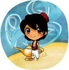 Fan Art of chibi aladin for fans of Aladdin 26956709 Chibi Disney, Kawaii Disney, Cute Disney, Baby Disney, Disney Drawings, Cartoon Drawings, Disney Magic, Disney Art, Princesas Disney Zombie