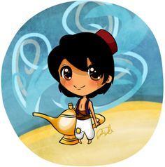 How to Draw Chibi Aladdin, Step by Step, Chibis, Draw Chibi, Anime, Draw Japanese Anime, Draw Manga, FREE Online Drawing Tutorial, Added by Jedec, November 29, 2010, 6:11:20 am