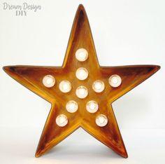 DIY Star Marquee - Dream Design DIY