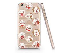 Japanese Lucky Fortune Cats Slim Iphone 6 6S Case, Clear Iphone 6 6S Hard Cover Case For Apple Iphone 6/6S -Emerishop (iphone 6) Emerishop