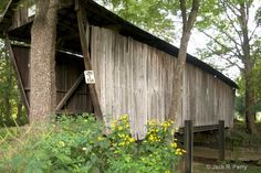 Adams/San Toy Covered Bridge LOC: S. Portersville on TRI6 over branch Sunday Creek, Union Twp sec 6 [off OH555 3.2m S. jct OH37 then W. .5m & S. (ahead) .1m]. NRHP Truss Type: Multiple Kingpost (MKP) Length: 58' | Built: 1875