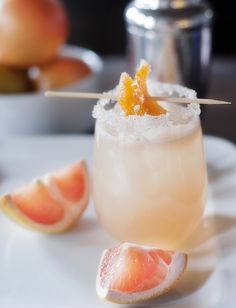 Candied Grapefruit Cocktail - not too sweet and incredibly refreshing | Pretty Plain Janes