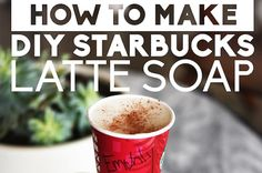 Make quick and cool latte-scented soap!