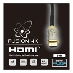 Fusion4K High Speed 4K HDMI Cable - Professional Series (50 Feet) CL3 Rated