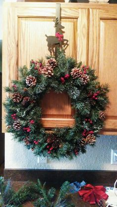 Christmas wreath I made!