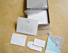 Metallic Silver Wedding Invitations. (@Wesley Flanagan i can see something like this for you)