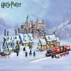 Officially licensed! Handcrafted, hand-painted figurines and illuminated fully-sculpted villages capture places and characters from HARRY POTTER.