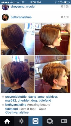 I like the bottom 2 pics...cutting hair soon and this is in the running for an option!