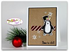 Stampin Up Snow Place Penguin For Freshly Made Sketches and Global Designs Projects, card by Sandi @ www.stampinwithsandi.com