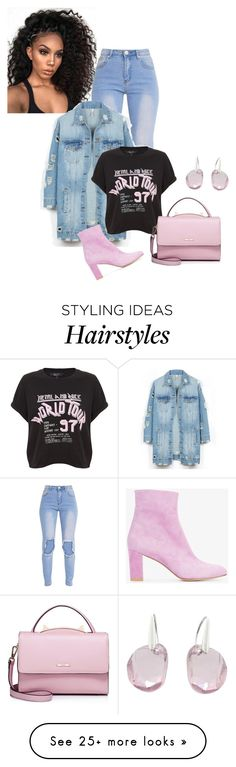 """""""Untitled #1373"""" by bsimon-1 on Polyvore featuring LE3NO, WithChic, Maryam Nassir Zadeh and Swarovski"""