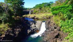 waterfall, wailuku river, hilo, big island, hawaii