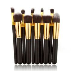 10 pcs Cosmetic Brush Set Makeup Brush - Stylish n Trendier - 7