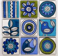 impresión y patrón: DISEÑADOR - Proust Jocelyn Madhubani Art, Madhubani Painting, Ceramic Painting, Fabric Painting, Posca Art, Tile Art, Mosaic Wall Art, Whimsical Art, Mandala Art