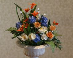 Miniature Dollhouse Flowers:Spectacular Peonies, Hydrangeas, Roses, Lilies. Free Shipping
