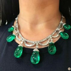 Bvlgari Colombian emeralds necklace