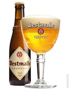 Westmalle Triple, One of my favourites, takes some beating! Triple 9, Cocktail Drinks, Alcoholic Drinks, Belgium Food, Beers Of The World, Malted Barley, Belgian Beer, Brewing Equipment, Quotes
