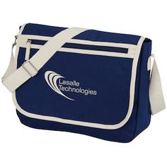 Customize this cotton laptop messenger bag with your brand!