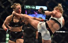 Rousey was dropped by a kick to the head to which she had no answer as Holm pulled off the biggest upset in the history of the UFC